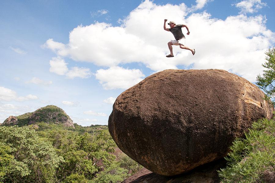 brian jumping on rockLR